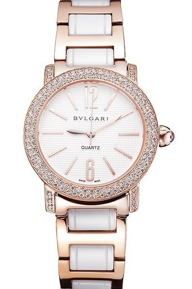 Replica Bvlgari Bvlgari White Embossed Dial Gold Case Diamond Bezel Ladies Watch | Men's & Women's Replica Watches Collection Online | Scoop.it