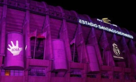En el primer dia internacional de la niña el Bernabeu se ilumina de rosa. Noticias de iluminacion | Guellcom Creative Solutions | Scoop.it