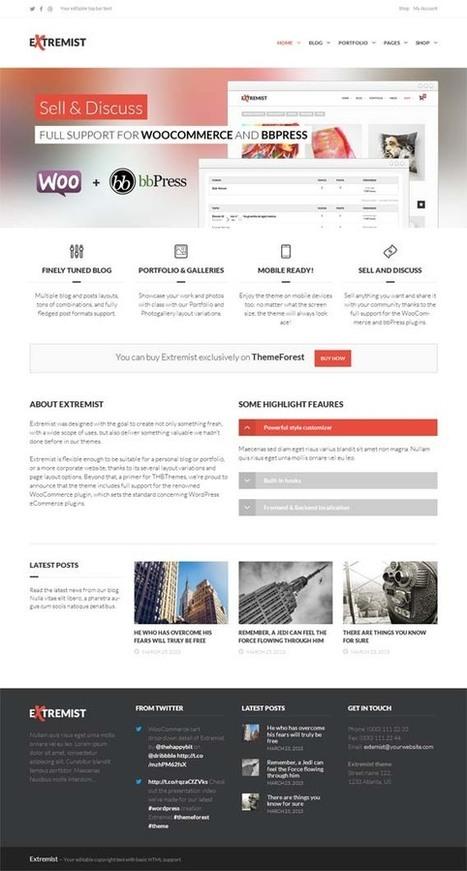 Extremist, WordPress Responsive Multipurpose Theme | WP Download | Premium WordPress Themes Download | Scoop.it