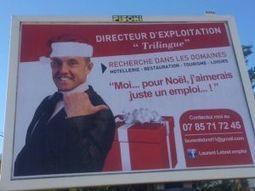 Il s'affiche sur un panneau publicitaire pour trouver un emploi | Quadra Diffusion | Scoop.it