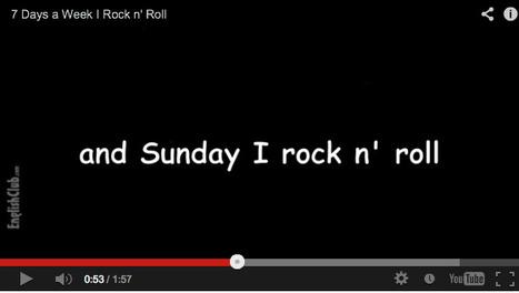 7 Days A Week I Rock n' Roll | Brainfriendly motivating comprehension resources for ESL EFL learners | Scoop.it