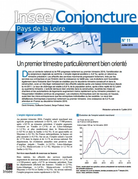 Insee > Conjoncture : un premier trimestre particulièrement bien orienté   Observer les Pays de la Loire   Scoop.it