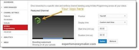 How To Add Logo In YouTube Videos? | online investment | Scoop.it