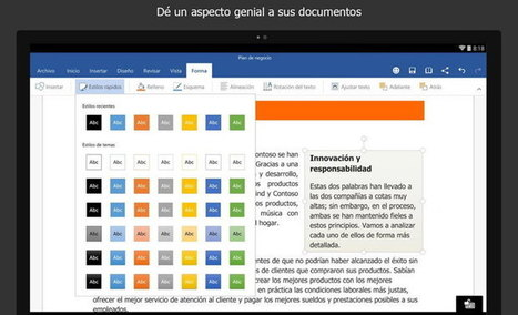 Primera versión de prueba de Word, Excel y PowerPoint para tablets con Android Lollipop | Mobile Technology | Scoop.it
