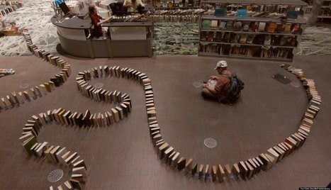 WATCH: Library Sets Book Domino World Record | Libraries in Flux | Scoop.it