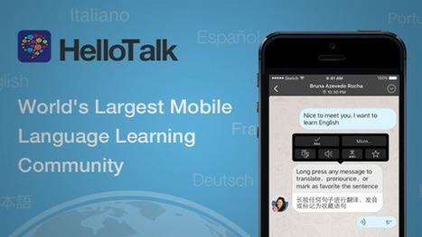 HelloTalk Language Exchange | Tools for Teachers & Learners | Scoop.it