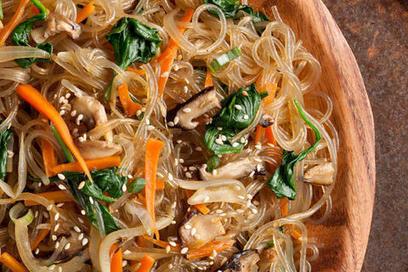 Japchae (Korean Stir-Fried Sweet Potato Noodles) Recipe - CHOW | Food | Scoop.it