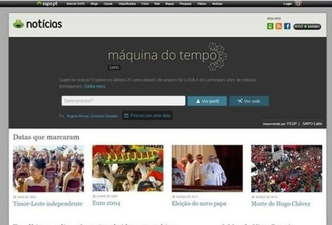 SAPO lança Máquina do Tempo | REACTION NEWS | Scoop.it