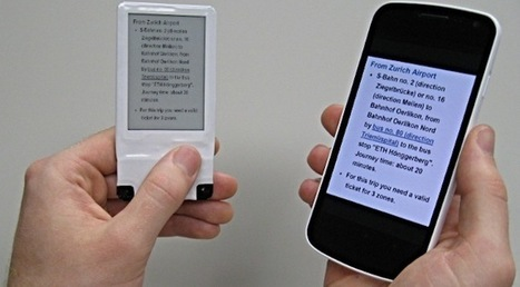 E-ink display wirelessly powered by NFC, offers a second screen for ...   Asset tracking   Scoop.it