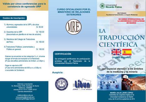 24/25/26-09-2014 XII CURSO INTERNACIONAL DE LA UNIVERSIDAD COMPLUTENSE DE MADRID | Traducción en Perú: eventos, noticias, talleres | Scoop.it