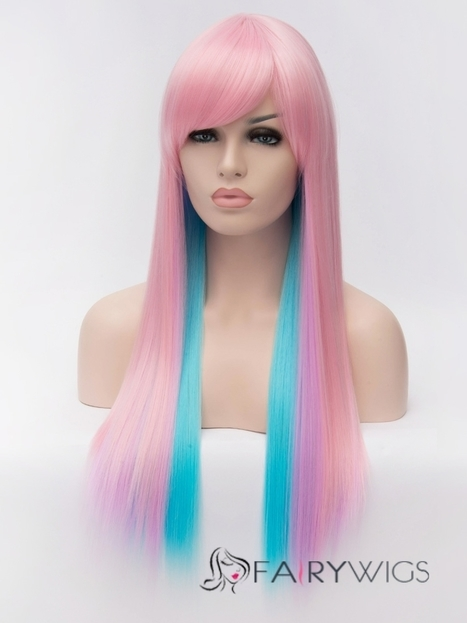 Impressive Cheap Capless Long Straight Mixed Color Hair Wigs : fairywigs.com | Synthetic Hair Wigs | Scoop.it