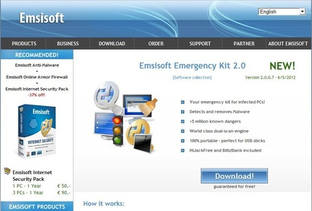 Emsisoft Free Emergency Kit: portable malware scanner | Free removal of malware | ICT Security Tools | Scoop.it