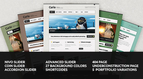Curio - Clean & Creative Wordpress Theme (Creative) | Premium Wordpress Themes | Scoop.it