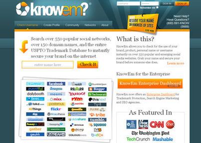 KnowEm : maitrisez votre e-reputation sur les réseaux sociaux | IceRanking® | Time to Learn | Scoop.it