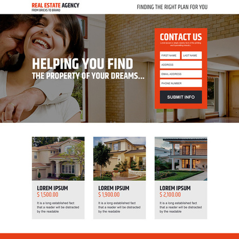 real estate agency dream property lead capturing landing page design | converting and effective landing page designs | Scoop.it