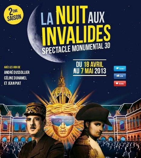 Evènement : La Nuit Aux Invalides Paris du 18 avril au 7 mai | Nos Racines | Scoop.it