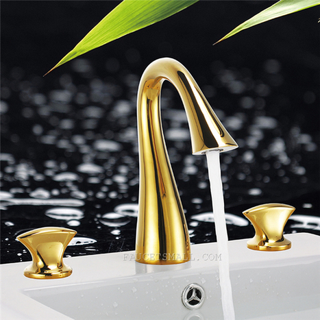 Golden Brass Nickel Ti-PVD Two Handles Contemporary Tub Faucet--- Faucetsmall.com | Shower Faucets & Bathtub Faucets | Scoop.it