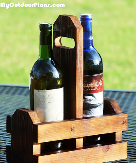 DIY Double Wine Caddy | MyOutdoorPlans | Free Woodworking Plans and Projects, DIY Shed, Wooden Playhouse, Pergola, Bbq | Garden Plans | Scoop.it