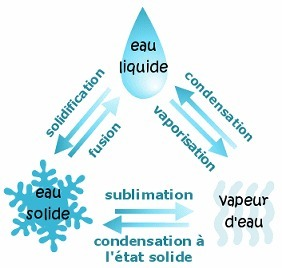 Les changements d'état de l'eau - Cycle de l'eau - Exposition Cité des Sciences Paris | L'eau dans tout ses états | Scoop.it
