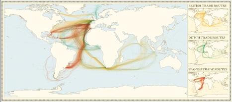 Colonial trade routes (image) | Highschool Geography | Scoop.it