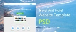 Beautiful Travel and Hotel Website Template PSD for Free Download - Freebie No: 70 | Website Design Template PSD | Scoop.it