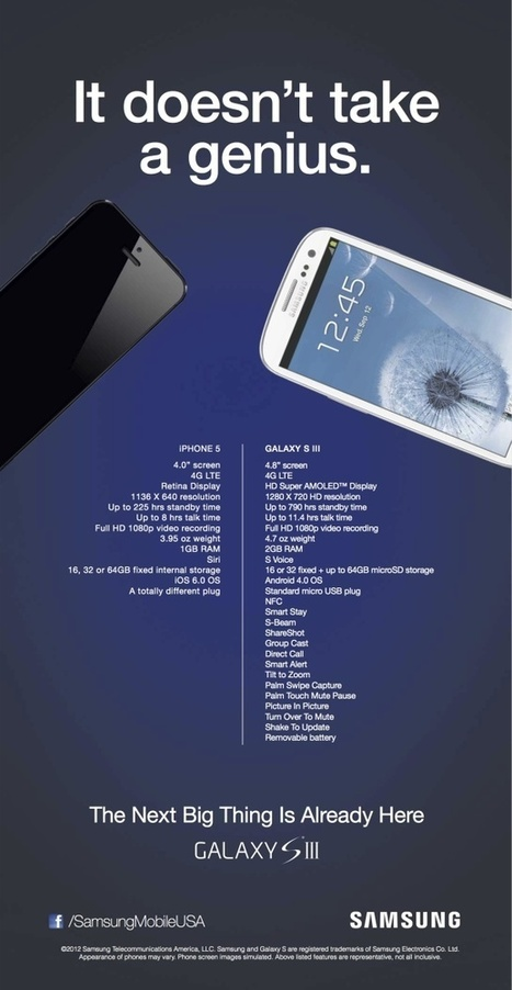Samsung attacks iPhone 5 in new ad   INFOGRAPHICS   Scoop.it
