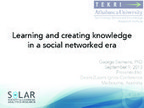 Learning and Creating Knowledge in Social Netwo... | Education: Social, Emotional Learning | Scoop.it