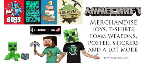 Minecraft Merchandise | Toys, T-shirts, Clothes | Gaming merchandise | Scoop.it