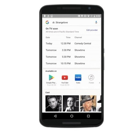 Google will soon show live TV listings in search results | Business Video Directory | Scoop.it