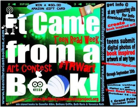 'It came from a book' contest encourages teens to create art from literature | Readers Advisory For Secondary Schools | Scoop.it