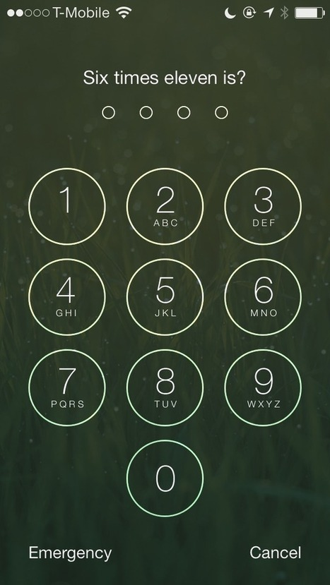 MathPass: use simple math problems to unlock your iPhone | EDCI280 | Scoop.it