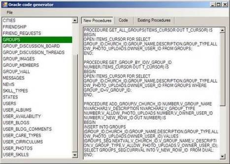 Simple C# code generator for Oracle - CodeProject | .NET Code Generation | Scoop.it