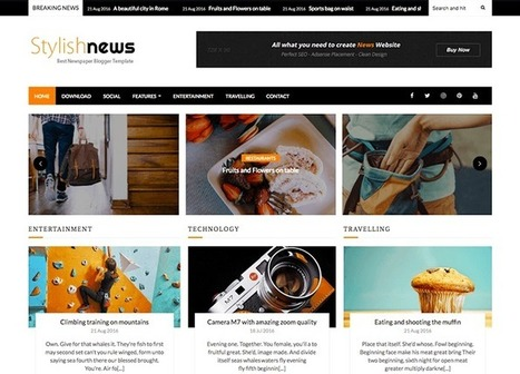 Stylish News Blogger Template | OddThemes | Blogger themes | Scoop.it