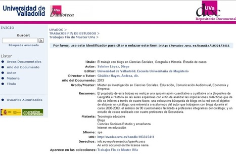 El trabajo con blogs en Ciencias Sociales, Geografía e Historia. Estudio de casos   Recursos educativos CCSS   Scoop.it