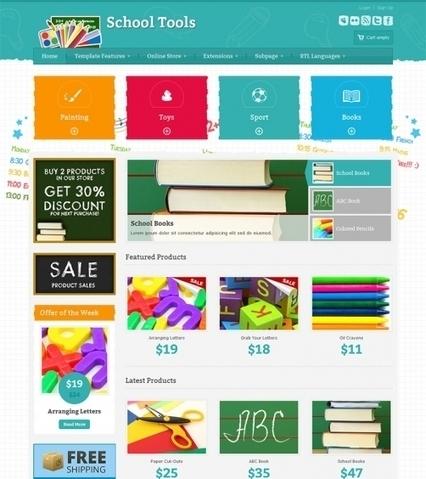 JM-School-Tools-Store ● Joomla-Monster ● Joomla Templates Shop   Joomla 2.5 templates   Scoop.it