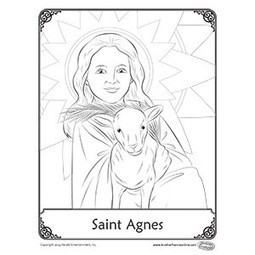 St. Agnes coloring pages | Resources for Catholic Faith Education | Scoop.it