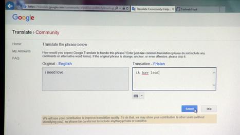 'Google Translate helpt Friese taal levend te houden' - NOS   Taalberichten   Scoop.it