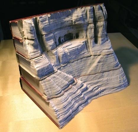 Guy Laramee | Sculptures de livres | arts visuels | Scoop.it