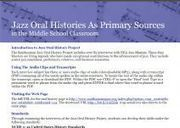 Smithsonian's History Explorer: Jazz Oral Histories as Primary Sources | History Primary Sources test | Scoop.it