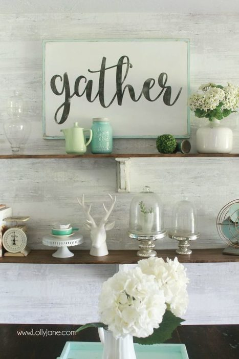 The time of year to gather together! Gather wood sign tutorial! #lumberdiy | Heartwood | Scoop.it