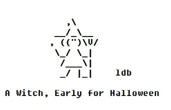 An Early Halloween Witch | ASCII Art | Scoop.it