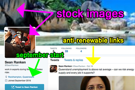 Mining Lobby Linked To Fake Twitter Army Coordinating Against Renewable Energy | Climate change and the media | Scoop.it