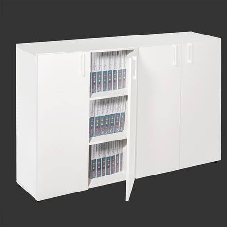 Armoire de Bureau, à rideaux, portes battantes - Negostock | Negostock, le plus grand choix d'armoires de bureau ! | Scoop.it