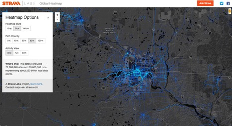 Strava Global Heatmap | Emergent Digital Practices | Scoop.it