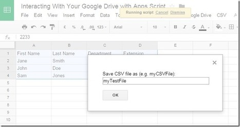 Tutorial: Interacting With Your Google Drive with Apps Script (including reading/writing .csv files)   MASHe   Google Apps Script   Scoop.it