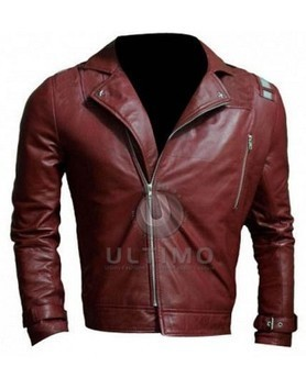 No More Heroes Travis Touchdown Red Leather Jacket | Celebrities Leather Jackets | Scoop.it