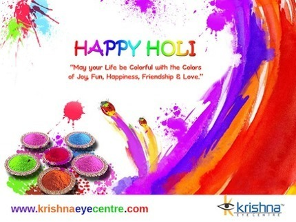 Krishna Eye Center Wishes a Happy Holi to all...<br/>May this Holi be Colorful for&hellip; | Best Eye Hospital in Mumbai | Scoop.it