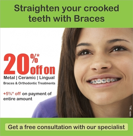 Dental Discount Offer Mumbai - 20% off on orthodontic treatment in November | Straighten your crooked teeth with braces | Dentist in Mumbai | Scoop.it