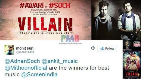Soch Wins Screen India Best Music Award for Ek Villain | Style Den | Scoop.it