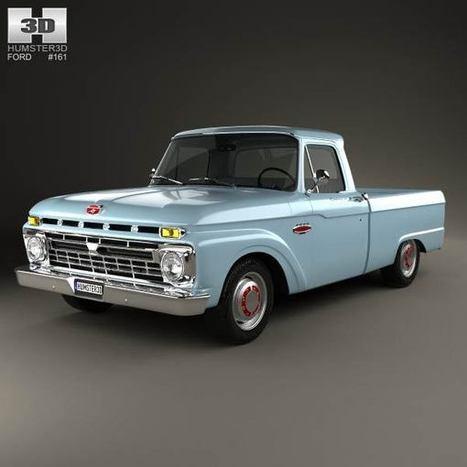 3D model of Ford F-100 1966   3D models   Scoop.it